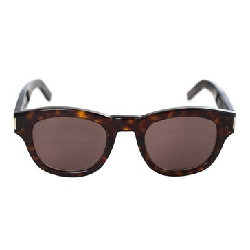 Saint Laurent Unisex Bold 67/F Sunglasses, Black/ Brown Grey 59mm