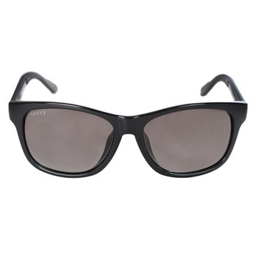 Gucci Unisex Sunglasses GG3735, Black/ Grey Gradient 57mm