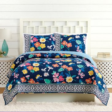Vera Bradley Maybe Navy Quilt - King