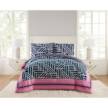 Vera Bradley Navy Geo Mini Comforter Set - King