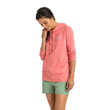 Vineyard Vines Long Sleeve FT Logo Hoodie in Blush