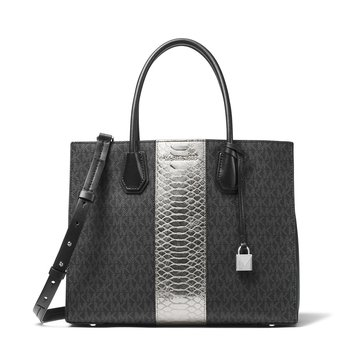 Michael Kors Mercer Large Convertible Tote Black