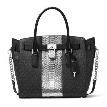 Web Exclusive! Michael Kors Hamilton Large East/West Satchel Black