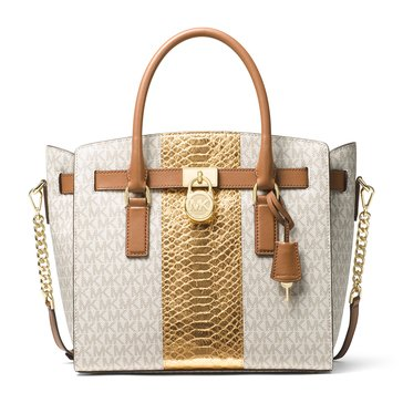 Michael Kors Hamilton Large East/West Satchel Vanilla