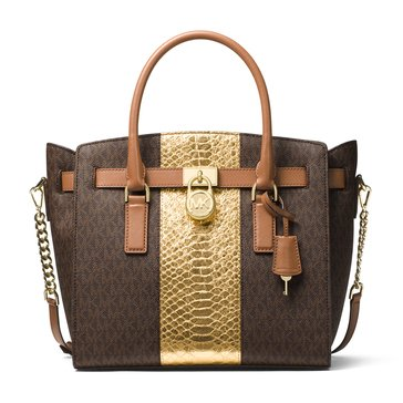 Michael Kors Hamilton Large East/West Satchel Brown