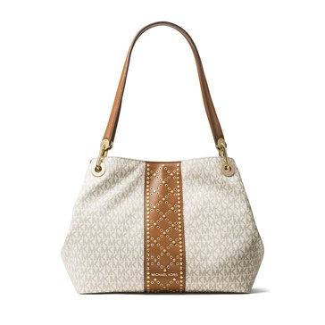 Michael Kors Raven Large Shoulder Tote Vanilla