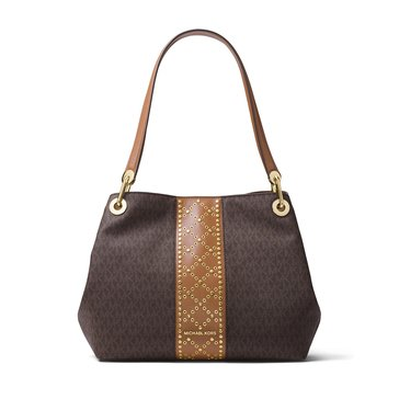 Michael Kors Raven Large Shoulder Tote Brown