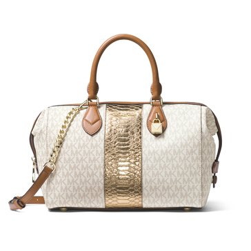 Michael Kors Grayson Large Convertible Satchel Vanilla