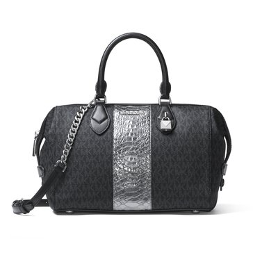 Michael Kors Grayson Large Convertible Satchel Black