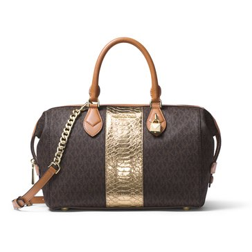 Michael Kors Grayson Large Convertible Satchel Brown