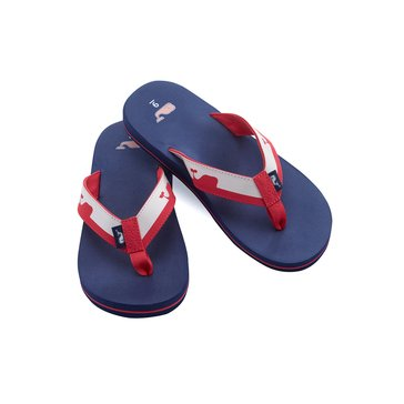 Vineyard Vines Whale Line Foam Flip Flop - Deep Bay