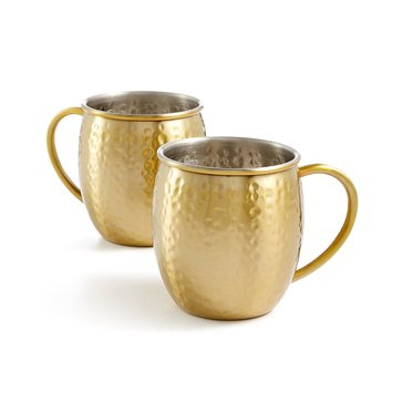 Martha Stewart Collection Gold Moscow Mule Mugs, Set of 2