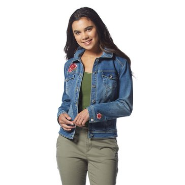 INC International Concepts Jacket with Roses in Indigo