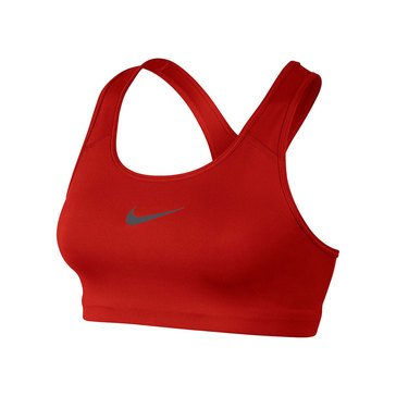 Nike Women's Swoosh Sports Bra in Red