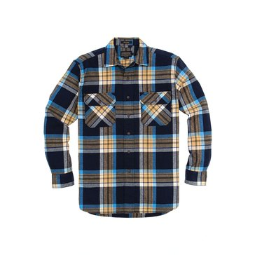 Pendleton Men's Burnside Twill Shirt - Navy Plaid