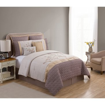 Harbor Home Gold Collection 8-Piece Comforter Set, Winter Dogwood - King