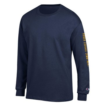 Champion Men's USN Honor Courage Commitment On Sleeve Long Sleeve Tee