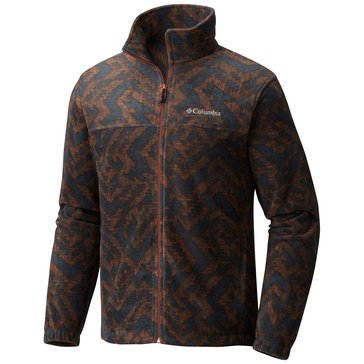 Columbia Men's Steens Mountain Printed Jacket - Brown Geo