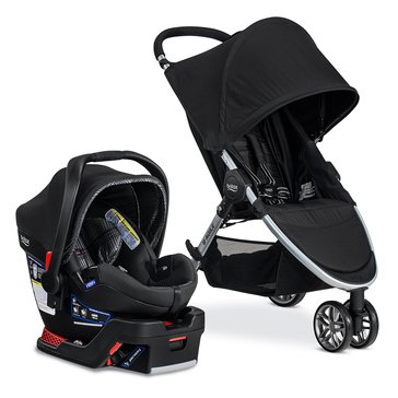 Britax B-Agile 3 Travel System With B-Safe 35 Elite, Domino