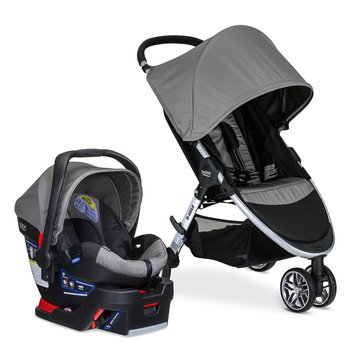 Britax B-Agile 3 Travel System With B-Safe 35, Steel