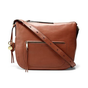 Cole Haan Marli Bucket Hobo Brandy Brown