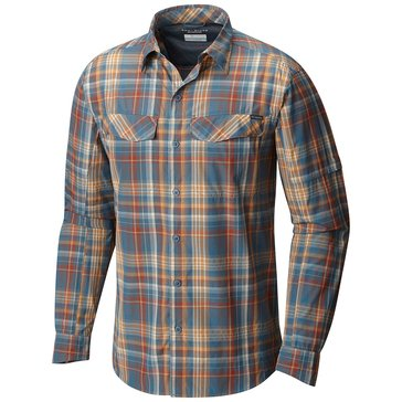 Columbia Men's Silver Ridge Plaid Long Sleeve Shirt - Blue