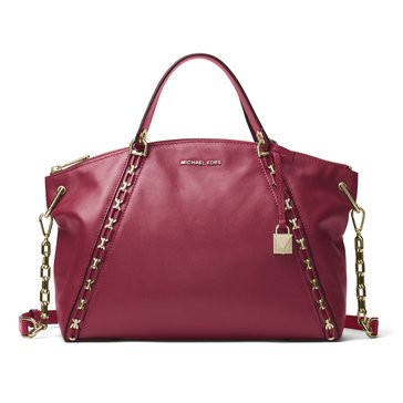 Michael Kors Sadie Large Top Zip Satchel Mulberry