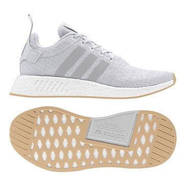 adidas NMD_R2 Men's Lifestyle Shoe - Grey One / Grey Two / Solar Slime