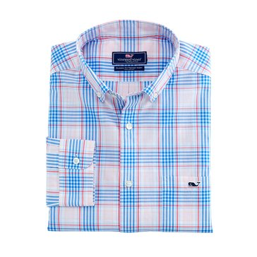 Vineyard Vines Men's Pelican Plaid Classic Tucker Sportshirt