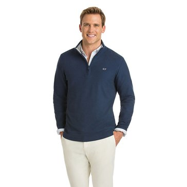 Vineyard Vines Men's Quarter Zip Oxford Pique Top