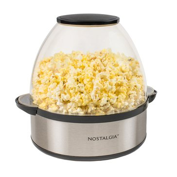 Nostalgia Electrics 6-Quart Stainless Steel Stir-Pop Popcorn Maker