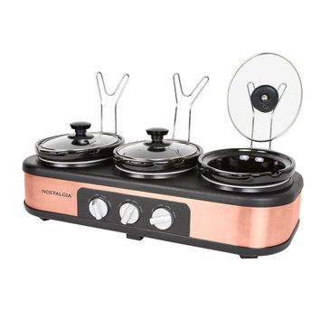 Nostalgia Electrics 3-Station 1.5-Quart Slow Cooker Buffet Server (TSC15)