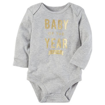 Carter's Newborn Slogan Bodysuit, New Years