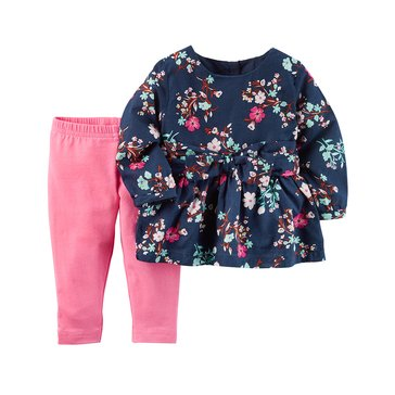 Carter's Baby Girls' 2-Piece Leggings Set
