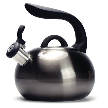 Primula 2.5 Quart Boulder Whistling Tea Kettle, Stainless Steel