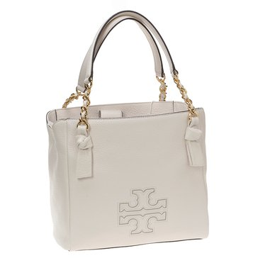 Tory Burch Harper Small Satchel New Ivory