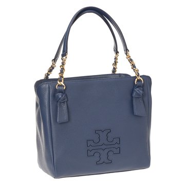 Tory Burch Harper Small Satchel Royal Navy