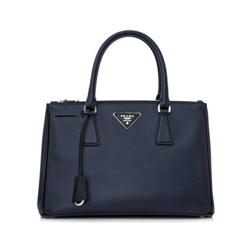 Prada Safiano Leather Tote Baltic Blue