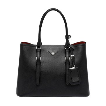 Prada Safiano Leather Tote Black Nero
