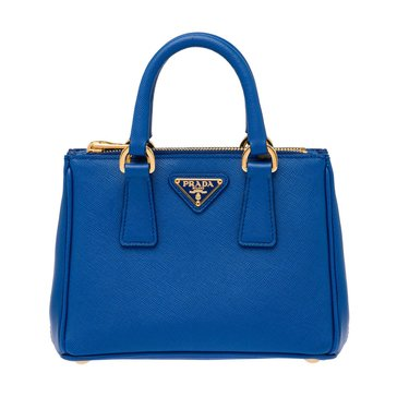 Prada Safiano Leather Tote Cobalt Blue