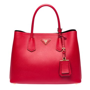 Prada Safiano Leather Tote Red