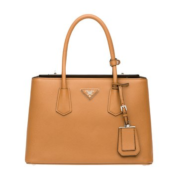 Prada Safiano Leather Tote Caramel