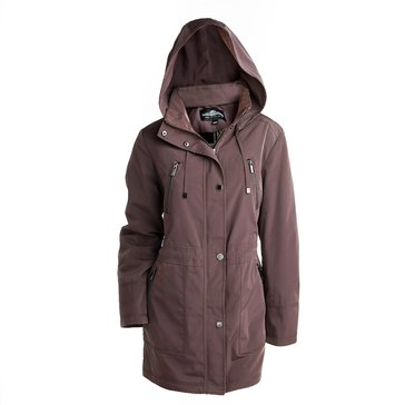 Fleet Street Women's Button Out Staduim With Snap Flap Coat
