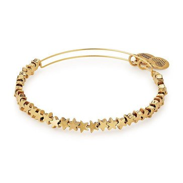Alex and Ani Star Beaded Expandable Bangle, Gold Finish