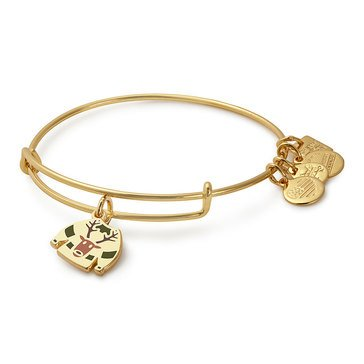 Alex and Ani Charity By Design Ugly Sweater Expandable Bangle, Gold Finish
