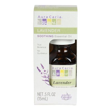 Aura Cacia 100% Pure Lavender Essential Oil Boxed 0.5oz