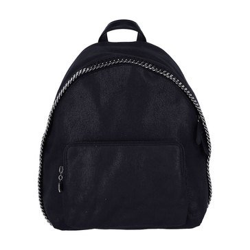 Stella McCartney Small Backpack Shaggy Deer Falabella Navy