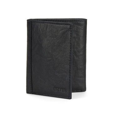 Fossil Neel Extra Capacity Trifold Wallet - Black