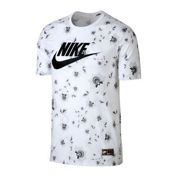 Nike Men's Allover Floral Tee in White