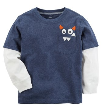Carter's Baby Boys' Long Sleeve Tee, Monster